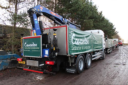 Cawarden branded lorry